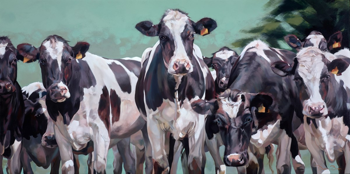 Mooove Over by debbie boon -  sized 63x32 inches. Available from Whitewall Galleries